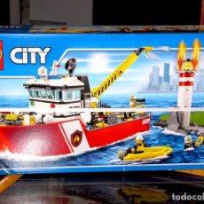 Juegos construcción - Lego: LEGO CITY 60109 BARCO DE BOMBEROS. PRECINTADO DE FÁBRICA. Lote 115242747