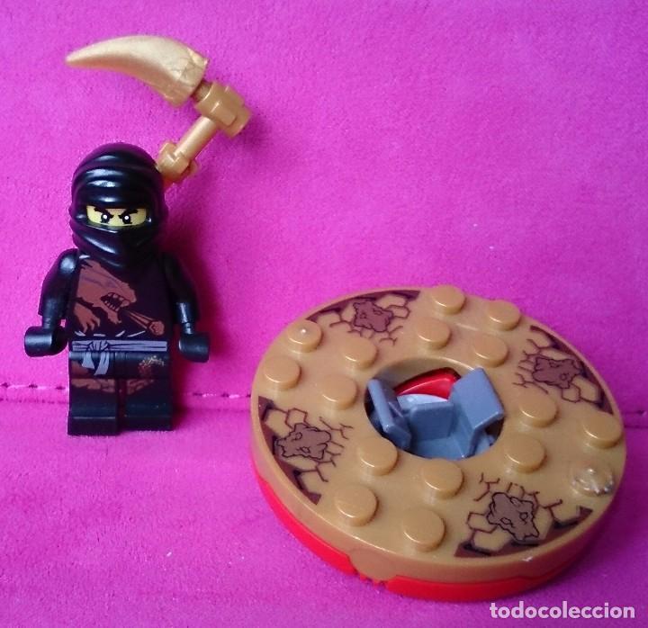 Lego Minifig Ninja Ninjago Cole Dx Spinner