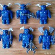 Juegos construcción - Lego: LOTE 6 MINIFIG MEGA BLOKS AZULES. Lote 116617095
