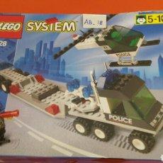Juegos construcción - Lego: CAMIÓN TRANSPORTE HELICÓPTERO POLICÍA REF.6328 LEGO SYSTEM 1998.NUEVO EN CAJA SIN ABRIR.. Lote 117558995
