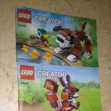 Juegos construcción - Lego: 3 MANUALES LEGÓ CREATOR 31044. Lote 118204219