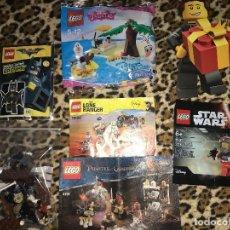 Juegos construcción - Lego: LEGO ORIGINAL LOTE LIQUIDACION PIEZAS EXCLUSIVAS POLYBAG Y MAS. Lote 118244967