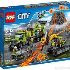 Juegos construcción - Lego: LEGO 60124: BASE DE EXPLORACIÓN DEL VOLCAN. NUEVO Y PRECINTADO DE FÁBRICA. Lote 118625919