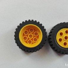 Juegos construcción - Lego: LEGO 2 RUEDAS LEGO 13X24 AMARILLO. Lote 119208511