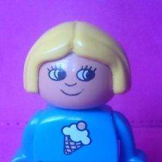 Juegos construcción - Lego: FIGURA LEGO DUPLO NIÑA DIBUJO HELADO . Lote 120997667