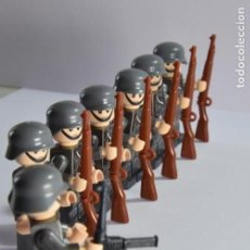 Juegos construcción - Lego: FIGURAS TIPO LEGO .II GUERRA MUNDIAL ALEMANES. WEHRMACHT. SOLDADOS. MAUSER. MP40. Lote 131081539