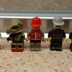 Juegos construcción - Lego: LOTE DE 5 MUÑECOS DIFERENTES DE LEGO, JUGUETE DE CONTRUCCION LEGO.. Lote 122263339