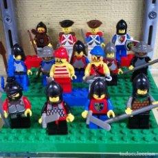 Juegos construcción - Lego: LOTE 15 MINI FIGURAS LEGO CLASICO LEGOLAND - MEDIEVAL PIRATAS INGLESES FRANCESES. Lote 122886535
