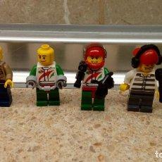 Juegos construcción - Lego: LOTE DE 5 MUÑECOS DE LEGO CON EQUIPACION MANUAL, JUGUETE DE CONSTRUCCION LEGO.. Lote 124270891