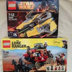 Juegos construcción - Lego: DOS JUEGOS LEGO STAR WARS Y DINNEY.. Lote 126453475