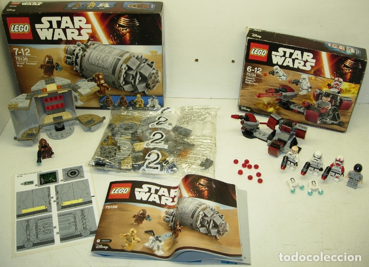 LEGO STAR WARS DROID ESCAPE POD REF. 75136 + GALACTIC EMPIRE BATTLE PACK REF. 75134 (Juguetes - Construcción - Lego)