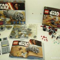 Juegos construcción - Lego: LEGO STAR WARS DROID ESCAPE POD REF. 75136 + GALACTIC EMPIRE BATTLE PACK REF. 75134. Lote 127492636