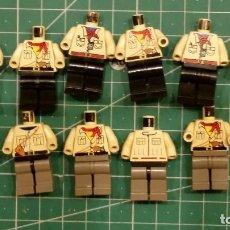 Juegos construcción - Lego: LEGO 10 CUERPOS Y 2 TORSOS. Lote 129149331