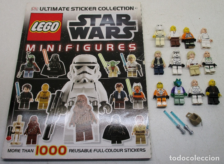 LEGO STAR WARS LOTE DE FIGURAS + LIBRO ADHESIVOS (Juguetes - Construcción - Lego)