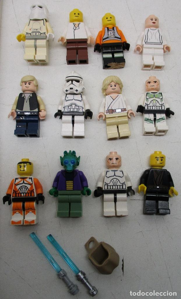 Juegos construcción - Lego: LEGO STAR WARS lote de figuras + libro adhesivos - Foto 2 - 129747343