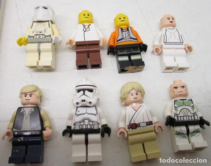 Juegos construcción - Lego: LEGO STAR WARS lote de figuras + libro adhesivos - Foto 4 - 129747343