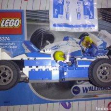 Juegos construcción - Lego: LEGO 2003 RF 8374 COCHE FÓRMULA 1 WILLIAMS F1 TEAM RACER ESCALA 1/27 ~ CON PEGATINAS SIN PREVIO USO. Lote 131190061