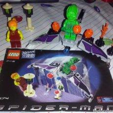 Juegos construcción - Lego: LEGO MARVEL STUDIOS 2002 SPIDER MAN RF 1374 - NAVE DUENDE VERDE & FIG MARY JANE WATSON PELO NARANJA. Lote 180167910