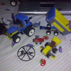 Juegos construcción - Lego: LEGO 2009 CITY RF 7637 ~ GRANJA SILO GRANO COBERTIZO CON TRACTOR PALA FRONTAL REMOLQUE & CORTACESPED. Lote 180166430