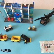 Juegos construcción - Lego: AEROPUERTO Y AVIÓN DE LEGO - VER FOTOS. Lote 131847002