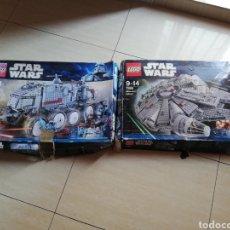 Juegos construcción - Lego: LEGO STAR WARS 8098 CLONE TURBO TANK TURBO TANQUE CLON Y 7965 MILLENNIUM FALCON HALCON MILENARIO. Lote 131860650