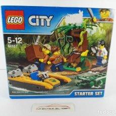 Juegos construcción - Lego: STARTER SET EXPLORADOR DE JUNGLA LEGO CITY 60157. Lote 132460414