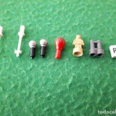 Juegos construcción - Lego: ACCESORIOS LEGO PALOS ESQUIS, MICROFONOS, MARACA, PREMIO, PRISMATICO, MATRICULA. Lote 132799078