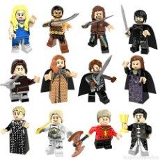 Juegos construcción - Lego: MINIFIGURAS JUEGO DE TRONOS LOTE DE 12 + INMACULADO MODELOS COMPATIBLES OCASION. Lote 195164057