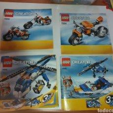Juegos construcción - Lego: LOTE LIBROS INSTRUCCIONES LEGO CREATOR. Lote 133435315