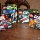 Juegos construcción - Lego: LEGO STAR WARS - LOTE DE 4 CAJAS - TODAS DIFERENTES. Lote 133840046