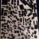 Juegos construcción - Lego: LOTE DE PIEZAS LEGO NEGRO 725 GRAMOS. Lote 137136786