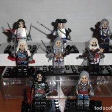Juegos construcción - Lego: LOTE DE 8 FIGURAS DE ASSASIND CREED. Lote 138878022