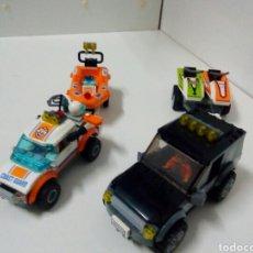Giochi costruzione - Lego: COCHES MOTOS DE AGUA I REMOLQUES LEGO CON MUÑECOS. Lote 138917600
