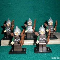 Juegos construcción - Lego: THE LORD OF THE RINGS 5 FIGURAS DE ARQUEROS DEL SEÑOR DE LOS ANILLOS. Lote 175355814