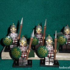 Juegos construcción - Lego: THE LORD OF THE RINGS 5 FIGURES SOLDIERS OF ROHAN, DEL SEÑOR DE LOS ANILLOS. Lote 175355910