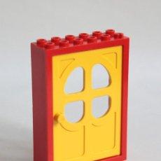 Juegos construcción - Lego: LEGO FABULAND PUERTA AMARILLA CON MARCO ROJO 2 X 6 X 7 DEL LOS SETS 3665, 3669, 3678, 3671, 3660.... Lote 141349414