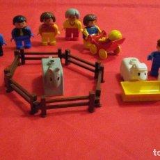 Juegos construcción - Lego: DUPLO DE LEGO. FAMILIA Y ANIMALES GRANJA. AÑOS 80-90. PARA NIÑOS DE 1 A 5 AÑOS. Lote 141082406