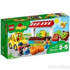 Juegos construcción - Lego: LEGO DUPLO MERCADO DE LA GRANJA 2-5 AÑOS 10867. Lote 144355430