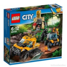 Juegos construcción - Lego: LEGO CITY JUNGLA MISION EN SEMIORUGA 6-12 AÑOS 60159. Lote 144357226