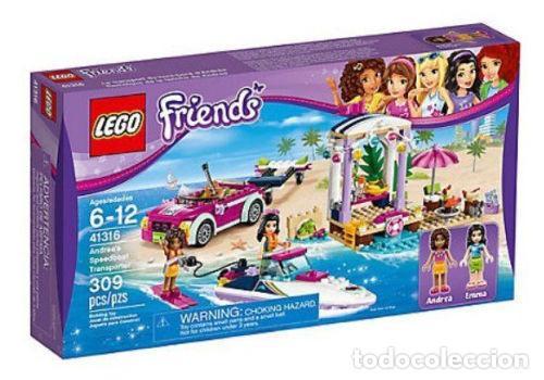 LEGO FRIENDS REMOLQUE DE LA LANCHA DE ANDREA 6-12 AÑOS 41316 (Juguetes - Construcción - Lego)