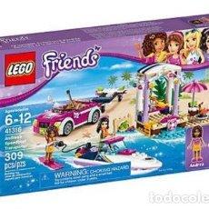 Juegos construcción - Lego: LEGO FRIENDS REMOLQUE DE LA LANCHA DE ANDREA 6-12 AÑOS 41316. Lote 144357522