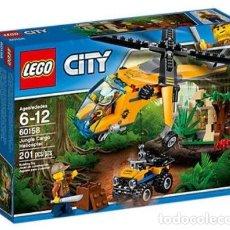 Juegos construcción - Lego: LEGO CITY JUNGLA HELICOPTERO DE TRANSPORTE 6-12 AÑOS 60158. Lote 223224768