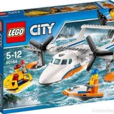 Juegos construcción - Lego: LEGO CITY AVION DE RESCATE MARITIMO 5-12 AÑOS 60164. Lote 144360930