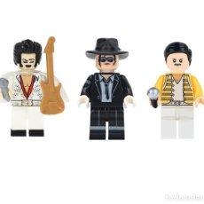 Juegos construcción - Lego: LOTE FIGURAS FREDDIE MERCURY, MICHAEL JACKSON Y ELVIS PRESLEY. COMPATIBLES CON LEGO. EN BOLSITAS.. Lote 151352989