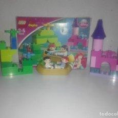 Juegos construcción - Lego: PRINCESAS DISNEY EL BARCO MÁGICO DE ARIEL LEGO DUPLO REF 10516 DESCATALOGADO. Lote 147623246