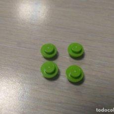 Juegos construcción - Lego: LEGO 4073 PIEZA PLACA 1X1 BOTON REDONDA VERDE X4 PIEZAS . Lote 148203238