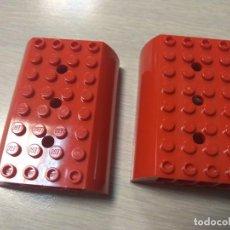 Juegos construcción - Lego: LEGO 45411 PIEZA PLACA BLOQUE TREN VAGON ROJO X2 PIEZAS . Lote 148208866
