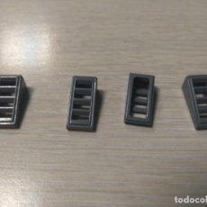 Juegos construcción - Lego: LEGO 61409 PIEZA INCLINADA REJILLA GRIS X4 PIEZAS. Lote 148213934