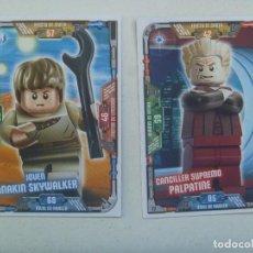 Juegos construcción - Lego: LOTE DE 2 TRADING CARD DE STAR WARS - LEGO . LA GUERRA DE LAS GALAXIAS. Lote 148615946