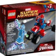 Juegos construcción - Lego: LEGO 76014 SPIDER-TRIKE VS ELECTRO (SUPER HEROES). NUEVO EN CAJA. DESCATALOGADO (DEL AÑO 2015).. Lote 151359182